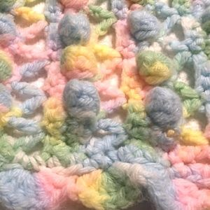 Handmade crochet baby blanket popcorn afghan cute